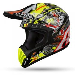 AIROH KASK OFF-ROAD SWITCH PIRATE GLOSS