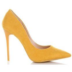 Uniwersalne Szpilki Damskie na każdą okazję włoskiej marki Bellucci Żółte (kolory)