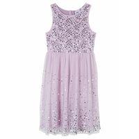 Sukienki dziecięce, Sukienka dziewczęca z cekinami na uroczyste okazje bonprix dymny bez - srebrny
