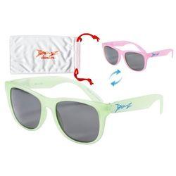 Okulary przeciwsłoneczne dzieci 4-10lat kameleon BANZ - Green to Pink