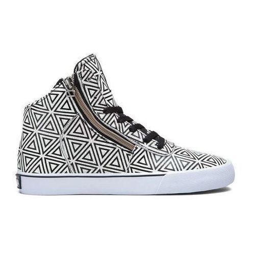 Damskie obuwie sportowe, buty SUPRA - Women Cuttler White/Pattern (WPT) rozmiar: 35.5