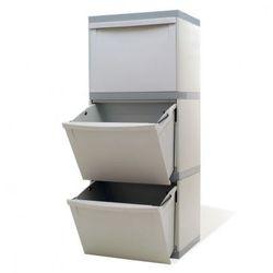 Zestaw koszy na segregowane odpady EKOMODUL, 3x30 l