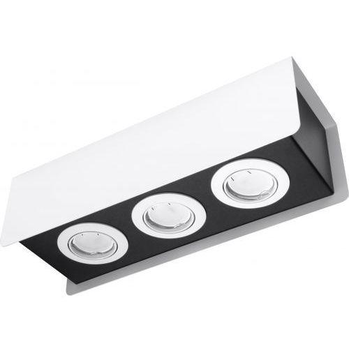 Lampy sufitowe, Spot plafon Sollux Stereo 3 SL.0407 oprawa sufitowa 3x40W GU10 biały/czarny