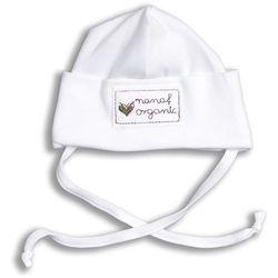 Czapka zawijana NANAF ORGANIC, Basic, biała - Biały