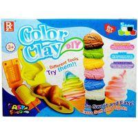 Pozostałe zabawki edukacyjne, Masa plastyczna SWEDE Color Clay (5 kolorów) + akcesoria + Zamów z DOSTAWĄ JUTRO!