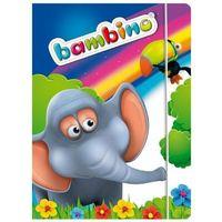 Teczki, Teczka z gumką A4 Bambino Standrard mix 10 sztuk