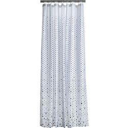 Zasłona prysznicowa Drop niebiesko-biała
