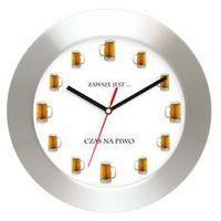 Zegary, Aluminiowy zegar ścienny Czas na piwo