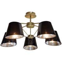 Lampy sufitowe, Lampa wisząca zwis żyrandol Candellux Cortez 5x40W E14 patyna 35-54999