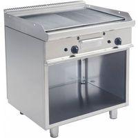 Grille gastronomiczne, Płyta grillowa gazowa 1/2 gładka 1/2 ryflowana wolnostojąca | 790x530mm | 12000W