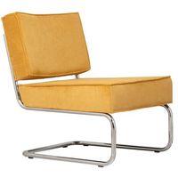 Krzesła, Zuiver Krzesło Lounge RIDGE RIB żółte 3100013