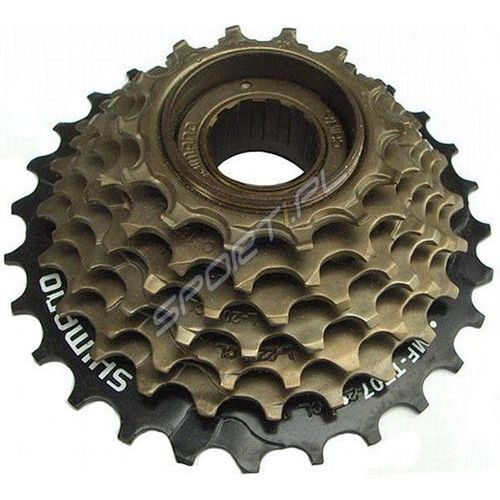 Pozostałe części rowerowe, Wolnobieg Shimano MFTZ 21 7-rzędowy 14-28T brązowy z protektorem