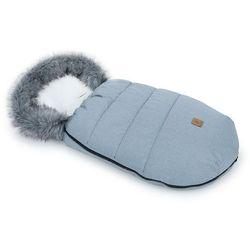MAMO-TATO Zimowy śpiwór do wózka z bawełną - Popiel / ecru