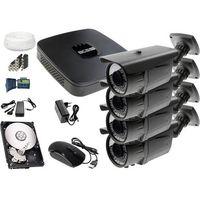 Zestawy monitoringowe, Zestaw do monitoringu: Rejestrator BCS-XVR0401E, 4x Kamera LV-AL60MVT, 1TB, akcesoria