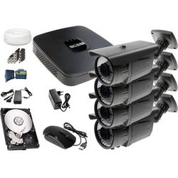 Zestaw do monitoringu: Rejestrator BCS-XVR0401E, 4x Kamera LV-AL60MVT, 1TB, akcesoria