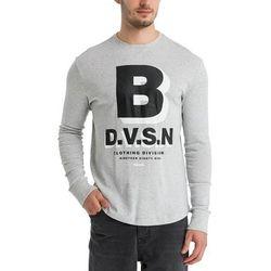 koszulka BENCH - Aw Longsleeve Light Grey Marl Winter (MA1052) rozmiar: M