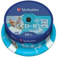 Płyty CD, DVD, Blu-ray, Płyta VERBATIM CD-R AZO Wide Inkjet Printable