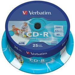 Płyta VERBATIM CD-R AZO Wide Inkjet Printable