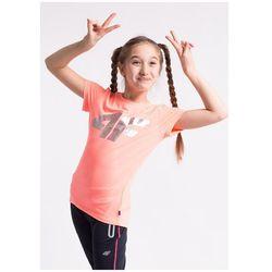 Koszulka sportowa dla dużych dziewcząt JTSD404z - koralowy