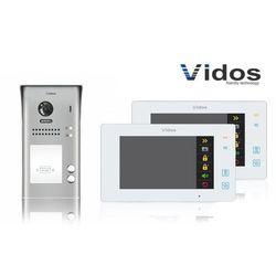 Zestaw cyfrowy wideodomofon dwurodzinny VIDOS S1102A_M1021W biały