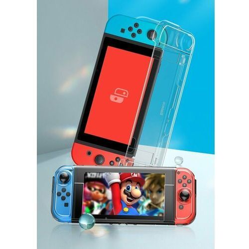 Etui i futerały do telefonów, Baseus SW pancerne etui 360 na Nintendo Switch z wycięciami na pady przezroczysty (WISWGS06-02) - Przezroczysty