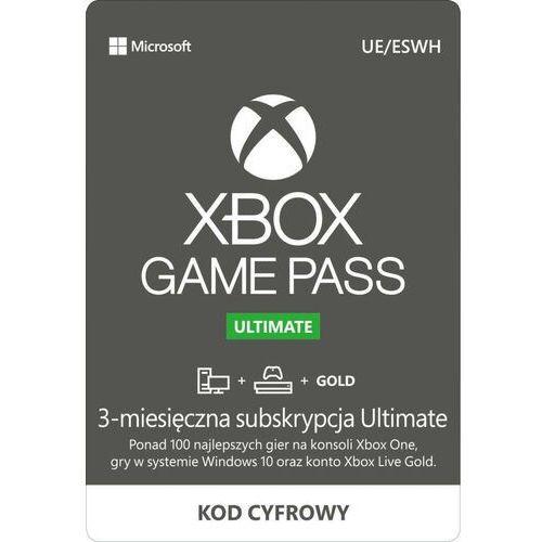Klucze i karty przedpłacone, Subskrypcja Xbox Game Pass Ultimate (3 m-ce)
