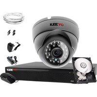 Zestawy monitoringowe, Monitoring zestaw 1 x kamera IR25m LV-AL25MD Rejestrator LV-XVR44SE P2P 500GB