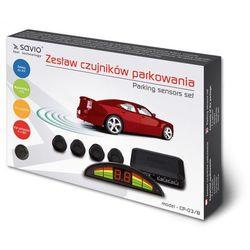 SAVIO Czujnik parkowania, wyświetlacz ze wskazaniami dla każdego z czujników Savio CP-03/B, czarny