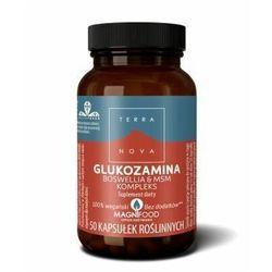Terranova, GLUKOZAMINA BOSWELLIA & MSM KOMPLEKS, wegański suplement diety, 50 kaps