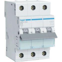 Hager MCB Wyłącznik nadprądowy Icn=6000A 3P B 32A MBN332E
