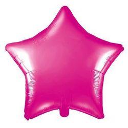 Balon foliowy gwiazdka ciemnoróżowa - 48 cm - 1 szt.