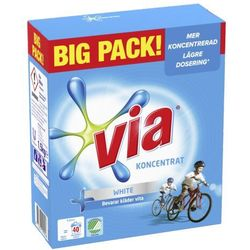 Via Koncentrerat Vittvattmedel proszek do prania białego 40 prań 1,5kg