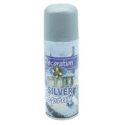 Farba dekoracyjna w sprayu - srebrna