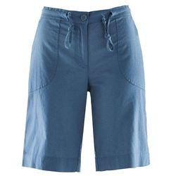 Bermudy lniane bonprix niebieski dżins