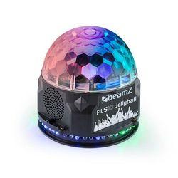 Beamz PLS10 Jellyball Półkula oświetleniowa 3 diody RGB LED 1W pierścień z 48 diodami RGB LED głośnik Bluetooth odtwarzacz MP3