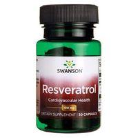 Preparaty ziołowe, Resweratrol korzeń rdest japoński 100mg Resveratrol 30 kapsułek SWANSON