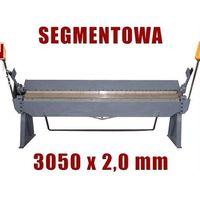 Giętarki, ZAGINARKA GIĘTARKA SEGMENTOWA DO BLACHY MAKTEK 3050mm x 2 mm EWIMAX promocja (--76%)