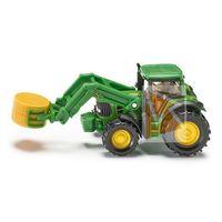Traktory dla dzieci, Siku, traktor z chwytakiem do bel - Trefl
