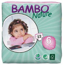 - BAMBO NATURE - Pieluchy Jednorazowe - Ekologiczne - Zdrowe 6 Junior 16-30kg