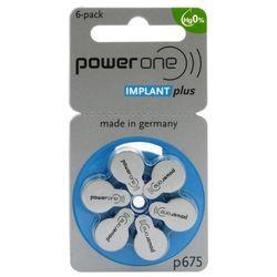 30 x baterie do aparatów słuchowych Power One Implant Plus 675 MF