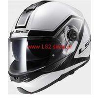 Kaski motocyklowe, KASK MOTOCYKLOWY LS2 SZCZĘKOWY FF325 STROBE CIVIK WHITE BLACK - kolor Biało-Czarny