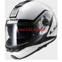 KASK MOTOCYKLOWY LS2 SZCZĘKOWY FF325 STROBE CIVIK WHITE BLACK - kolor Biało-Czarny