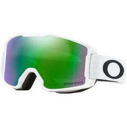 Oakley Line Miner Gogle Dzieci zielony/biały 2018 Gogle narciarskie