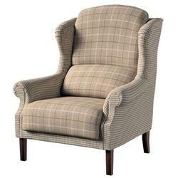 Dekoria Fotel dwukolorowy, beżowo- kremowa pepitka, 85x107cm, Edinburgh