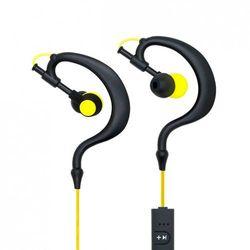 Słuchawki BT z mikrofonem AP-B23 Czarne/żółte Sport (EARHOOK)