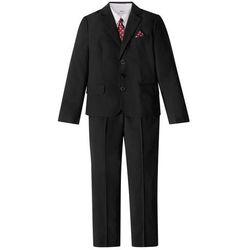 Garnitur chłopięcy + koszula + krawat (4 części) bonprix czarno-biały