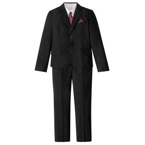 Garnitury chłopięce, Garnitur chłopięcy + koszula + krawat (4 części) bonprix czarno-biały