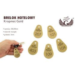 Brelok hotelowy - KROPMET Gold gr. 3mm