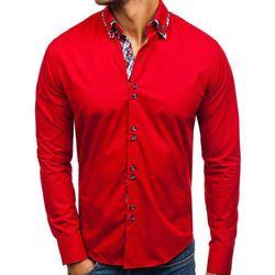 Koszula męska elegancka z długim rękawem czerwona Bolf 4704-1