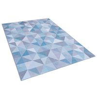 Dywany, Dywan niebiesko-szary 160 x 230 cm krótkowłosy KARTEPE